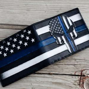 Blue Lives Matter Custom Bifold Wallet