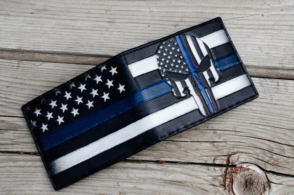 Blue Lives Matter Custom Bifold Wallet