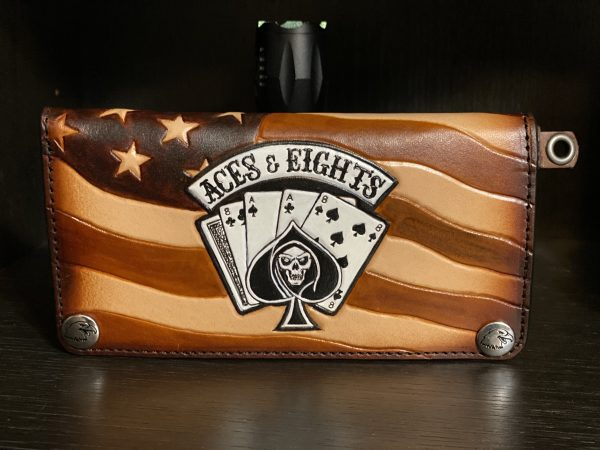 aces and eights outlaw biker wallet by Christoph Joseph